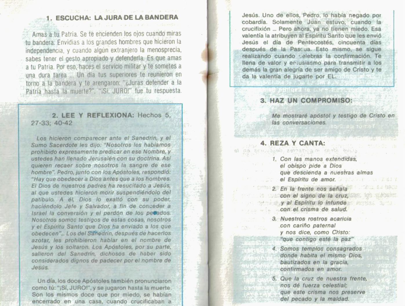 """Páginas de """"Catecismos para soldados"""", varios."""