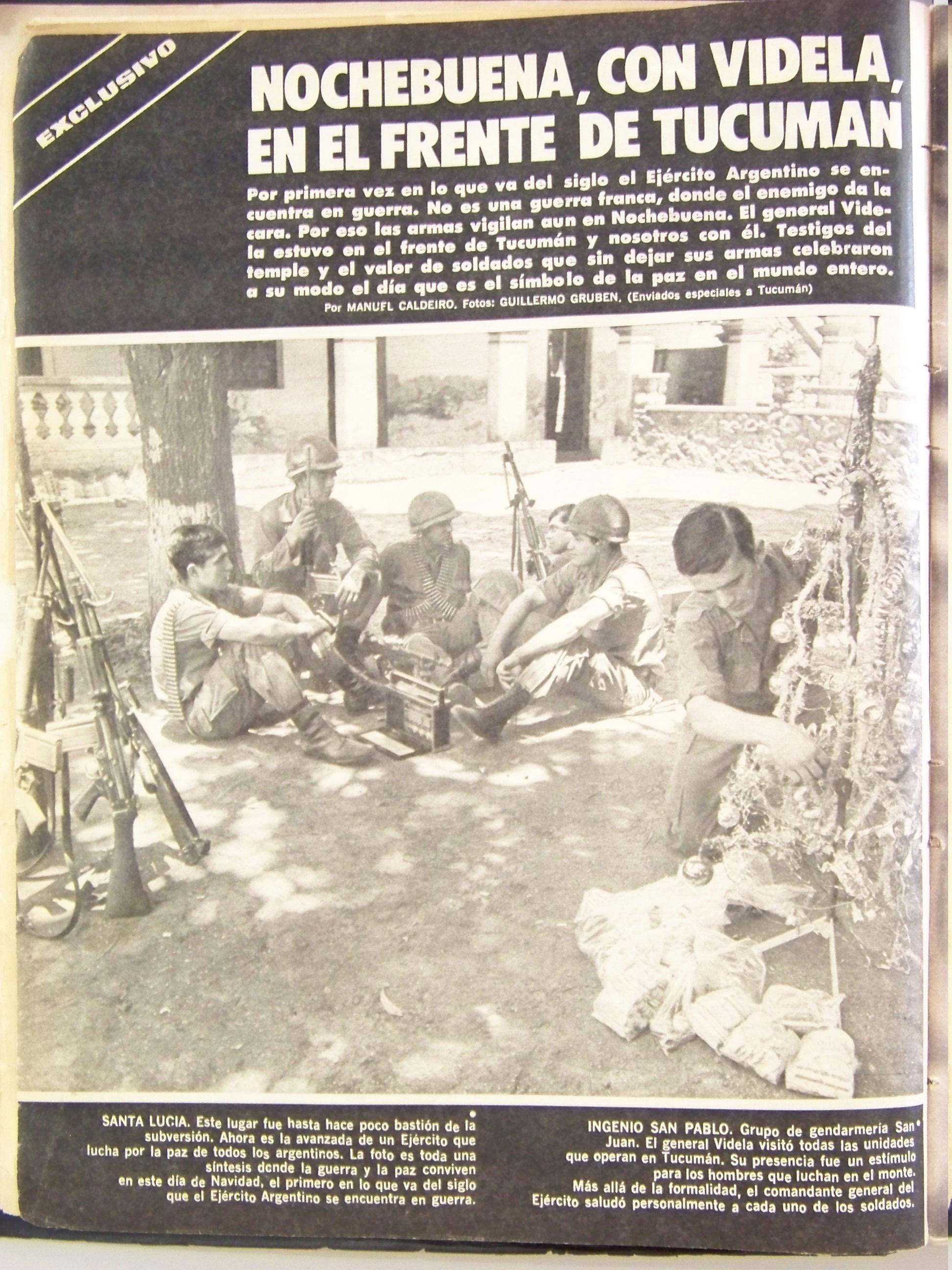 """""""Operativo Independencia"""", Revista Gente, diciembre 1975"""