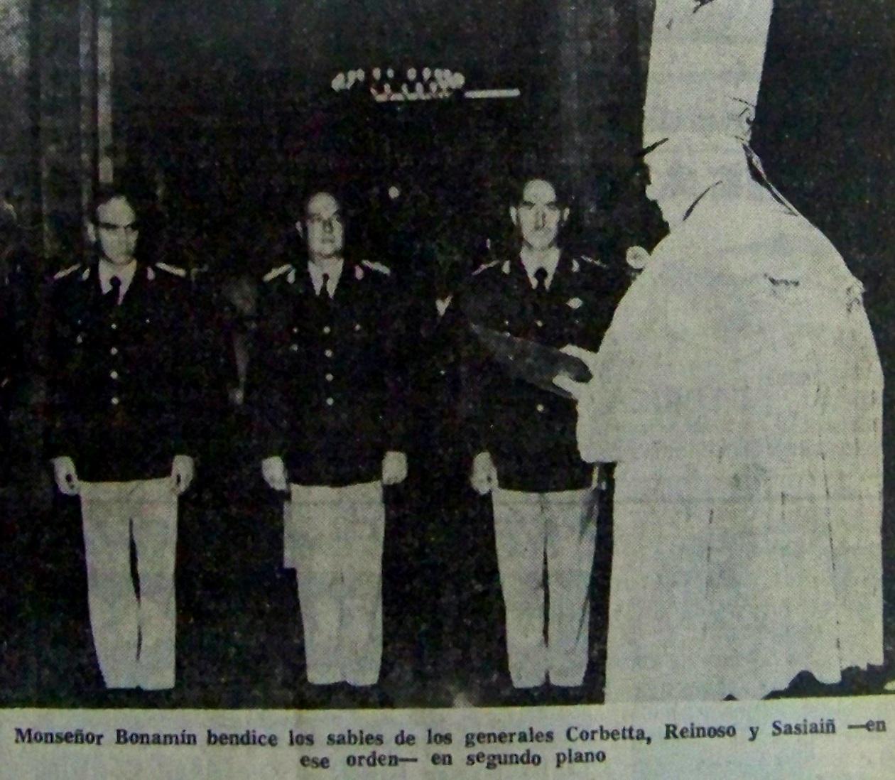 Bendición de Sables, Estado Mayor Conjunto, Bs. As., 10/05/1976.